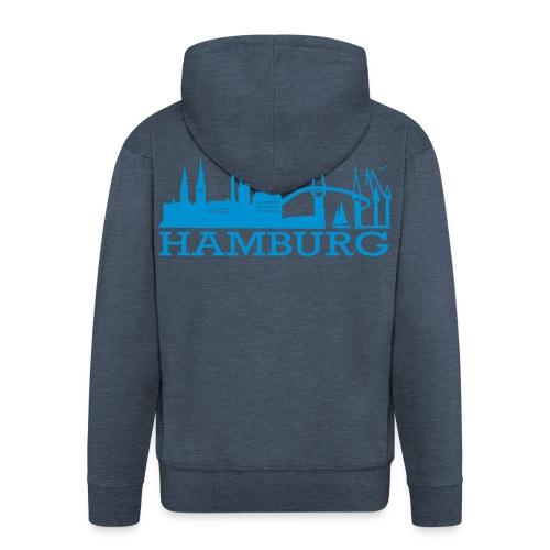 Kaputzenjacke Hamburger Skyline - Männer Premium Kapuzenjacke