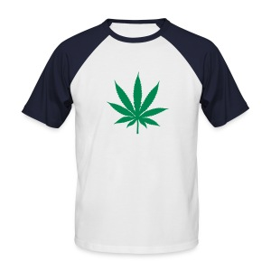ganja leaf short sleeved shirt - Men's Baseball T-Shirt
