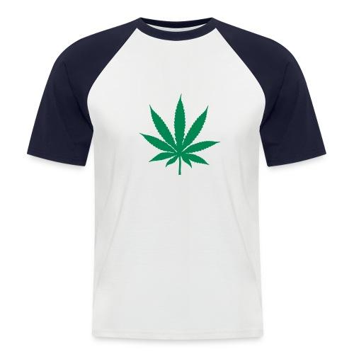 ganja leaf short sleeved shirt - Men's Baseball T-Shirt