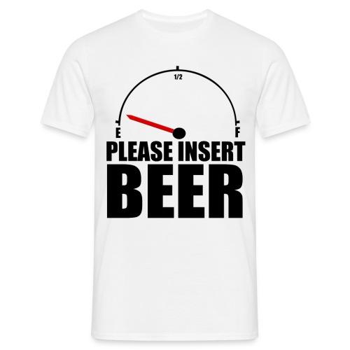 Insert Beer ! - T-shirt Homme