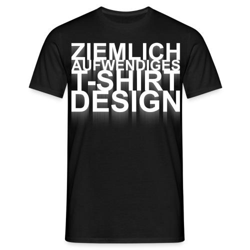Aufwendiges Shirt schwarz - Männer T-Shirt