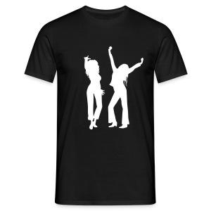 Black / White Logo - Men's T-Shirt