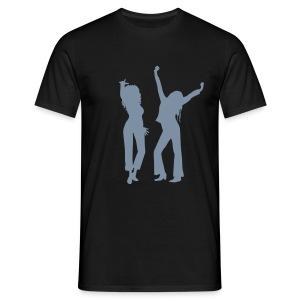 Black / Silver Logo - Men's T-Shirt