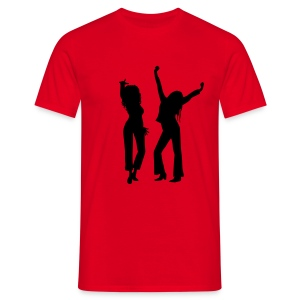 Red / Black Logo - Men's T-Shirt
