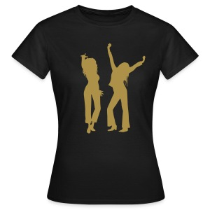Black / Gold Glitter Logo - Women's T-Shirt