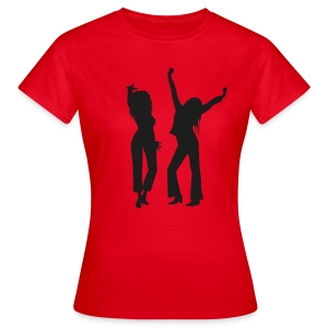 Red / Black Glitter Logo - Women's T-Shirt