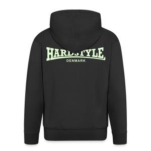 Hardstyle Denmark - Glow in the dark - Men's Premium Hooded Jacket