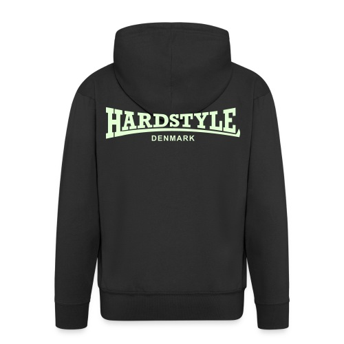 Hardstyle Denmark - Glow in the dark - Men's Premium Hooded Jacket