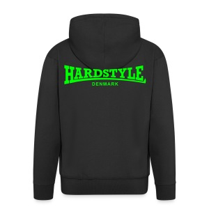 Hardstyle Denmark - Neongreen - Men's Premium Hooded Jacket