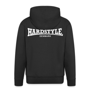 Hardstyle Denmark - White - Men's Premium Hooded Jacket
