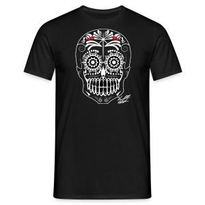 WHITE SKULL W SIG - Men's T-Shirt