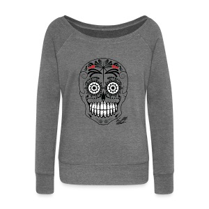 SKULL W SIG - Women's Boat Neck Long Sleeve Top