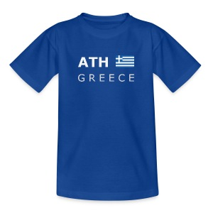 Teenager T-Shirt ATH GREECE white-lettered - Teenage T-shirt