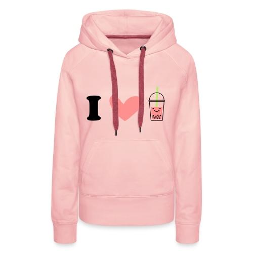 i love sweet - Sweat-shirt à capuche Premium pour femmes