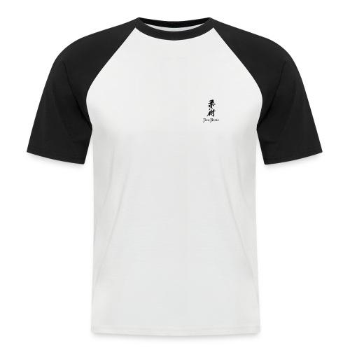 Tweekleurig T-Shirt met Jiu-Jitsu karakters - Mannen baseballshirt korte mouw