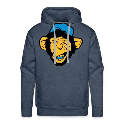 Monky - Bluza męska Premium z kapturem
