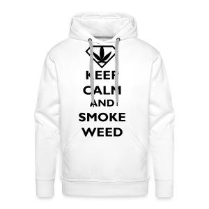 Keep Calm and Smoke Weed - Mannen Premium hoodie