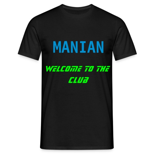 black tee manian welcome to the club blue/neon green print - Men's T-Shirt
