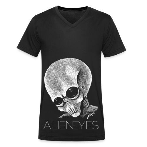 ALIENEYS - Ekologisk T-shirt med V-ringning herr från Stanley & Stella