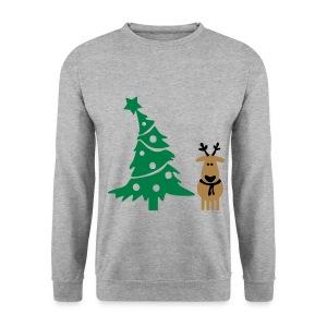 the tree and reindeer ! - Men's Sweatshirt