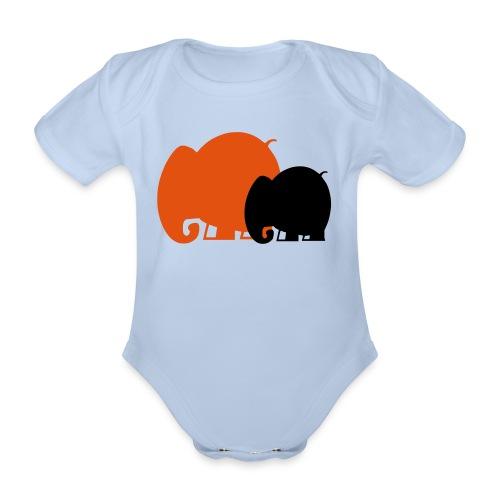 Body bébé éléphants - Body bébé bio manches courtes