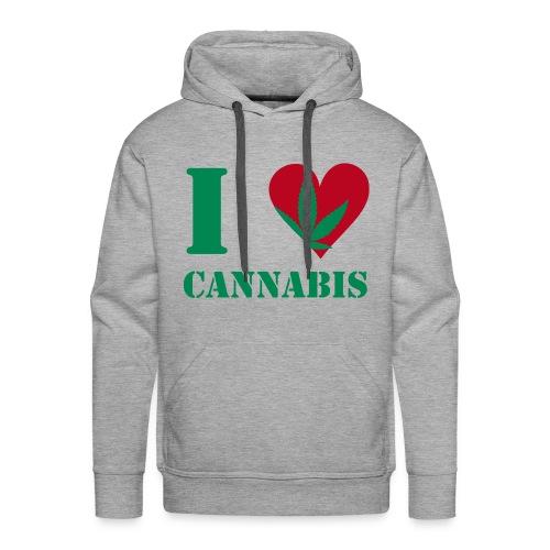 I love canabis shirt  - Mannen Premium hoodie