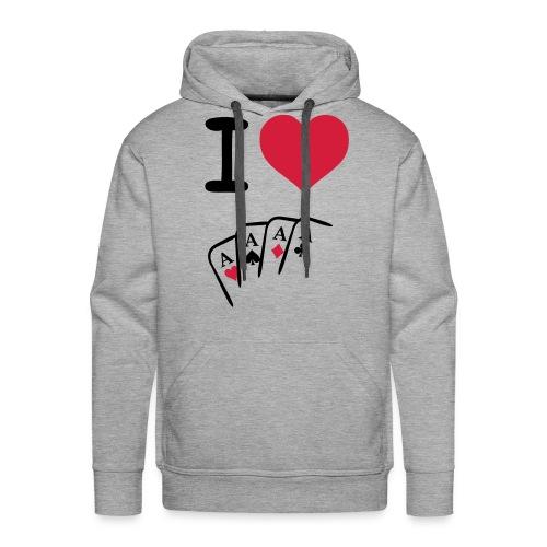 I love kaarten sweater - Mannen Premium hoodie