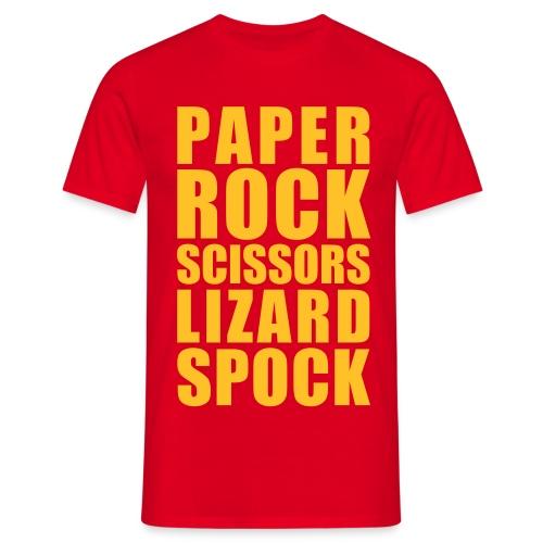 T-skjorte - Paper rock... - T-skjorte for menn