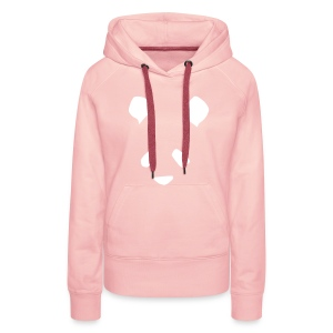 Simple Panda Womens Hoodie - White on Pink - Women's Premium Hoodie