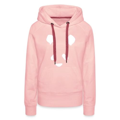 Simple Panda Womens Hoodie - White on Pink - Women's Premium Hoodie