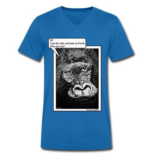 heren T-shirt gorilla - Mannen bio T-shirt met V-hals van Stanley & Stella
