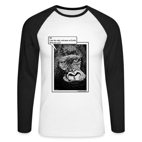 heren shirt gorilla - Mannen baseballshirt lange mouw