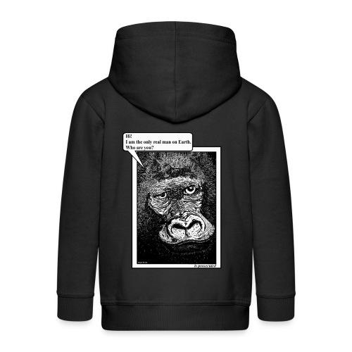 kinder jas gorilla - Kinderen Premium jas met capuchon