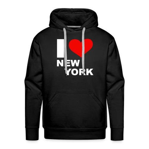 Sweet I Love New York - Sweat-shirt à capuche Premium pour hommes