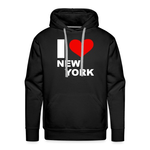 Sweet I Love New York - Sweat-shirt à capuche Premium pour hommes