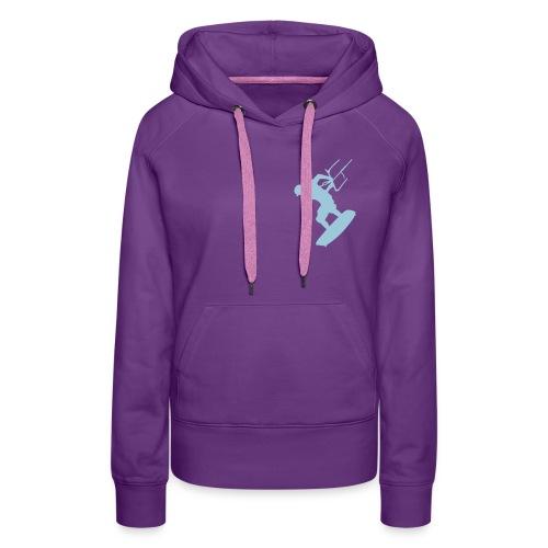 kite Girl évolution - Sweat-shirt à capuche Premium pour femmes