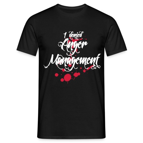 Anger Management denied - Männer T-Shirt