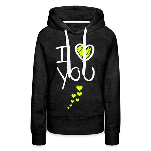 i ♥ you vest, witten letters. - Vrouwen Premium hoodie