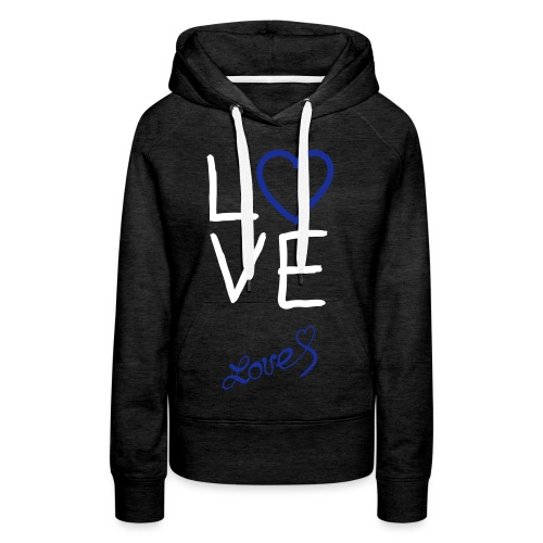 love vest, witten letters. - Vrouwen Premium hoodie