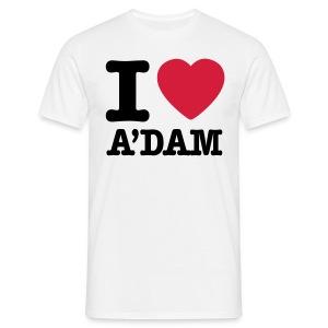 I love A'dam shirt - Mannen T-shirt