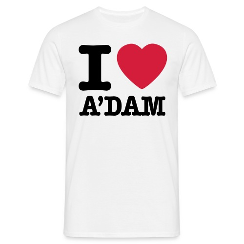 I love A'dam shirt - Mannen T-shirt