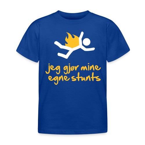 Jeg gjør mine egne stunts - T-skjorte for barn