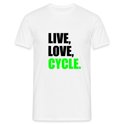 Live, Love, Cycle T-shirt - Men's T-Shirt