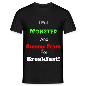I eat monster and gummy bears for breakfast-day in the life of Jago and Ryan T-shirt - Men's T-Shirt