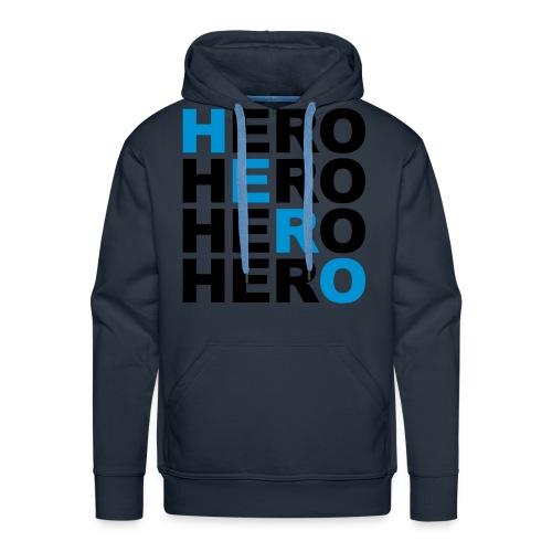 zwart/licht blauw - Mannen Premium hoodie