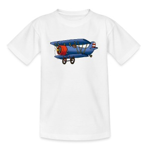 blue plane - Kinder T-Shirt