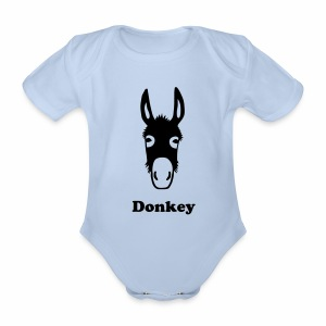 Guernsey Donkey Baby One Piece - Organic Short-sleeved Baby Bodysuit