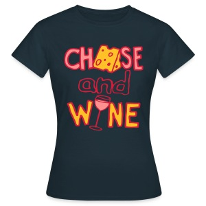 Cheese and Wine (Lady's Double-dip Recession-Proof Edition) - Women's T-Shirt