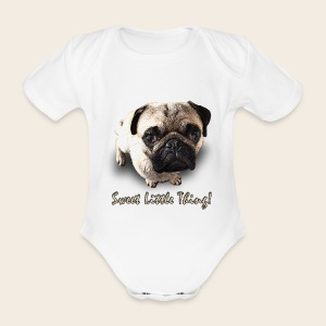 Mops Baby-Body Sweet Little Thing - Baby Bio-Kurzarm-Body