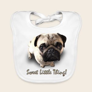 Mops Baby-Latz Sweet Little Thing - Baby Bio-Lätzchen